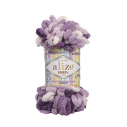 Пряжа Alize Puffy color цвет 5923
